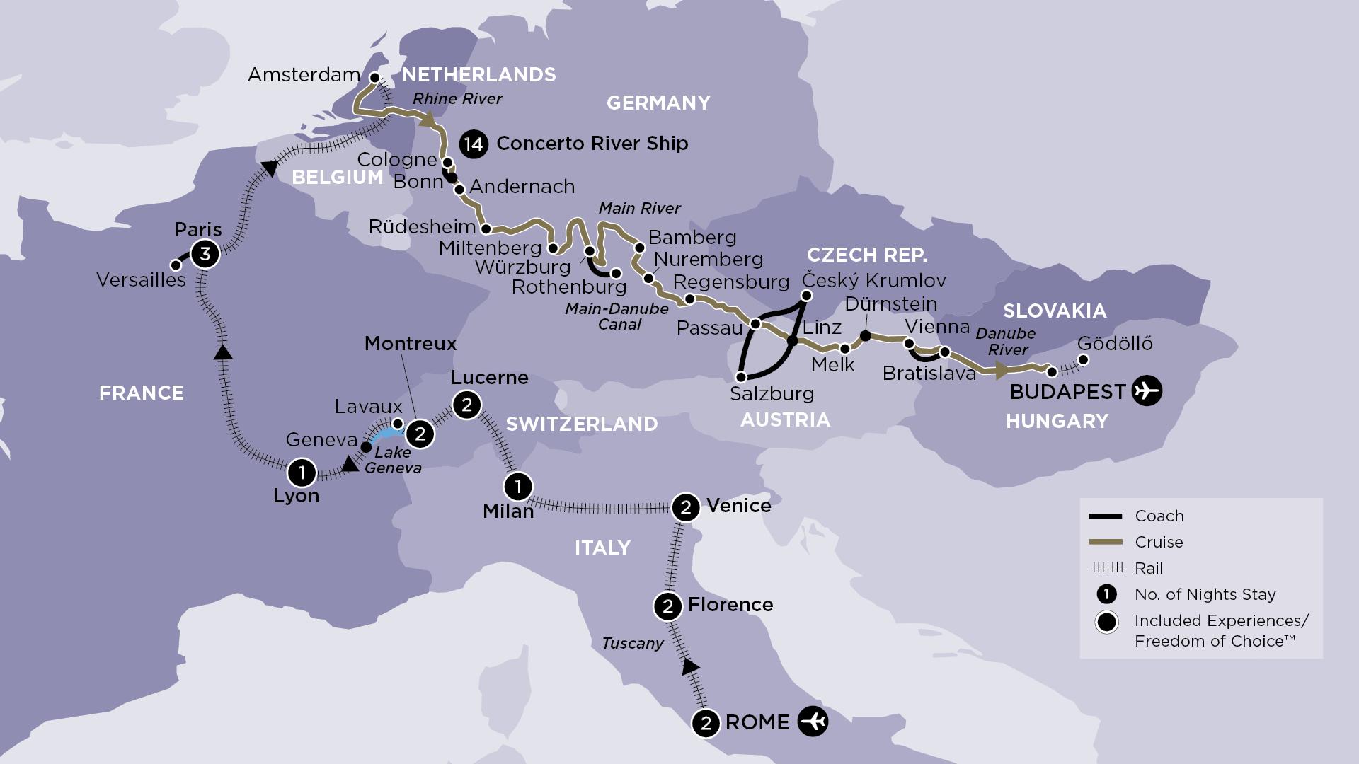Apt France Map.Apt 30 Day Grand European By Rail